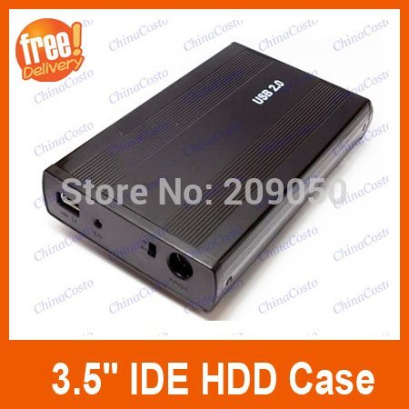 "Retail-B USB 2.0 3.5"" IDE HDD External Enclosure Hard Drive Disk HDD Case,Black Color(China (Mainland))"