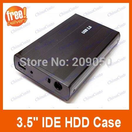"Retail-B USB 2.0 3.5"" IDE HDD External Enclosure Hard Drive Disk HDD Case,Black Color(China (Mainland))"