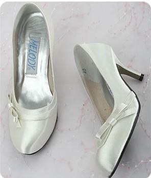 1 pair/lot Classic Design Custom-made Bride Shoes for Wedding A0756