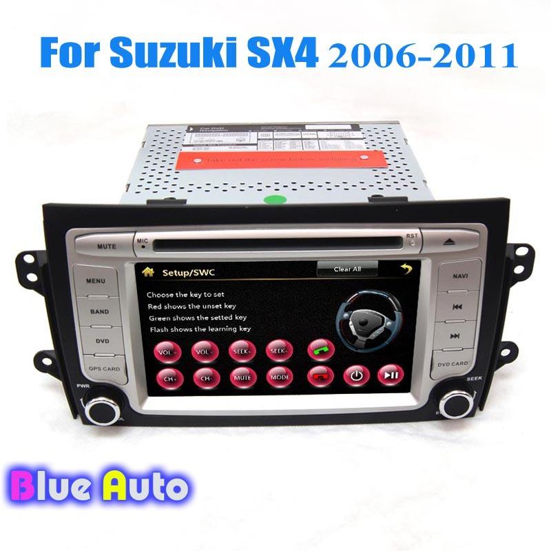 Wince Car Head Unit GPS Media Player Support DVD 3G Bluetooth TV Dual Zone Steering Wheel Control Radio For Suzuki SX4(China (Mainland))