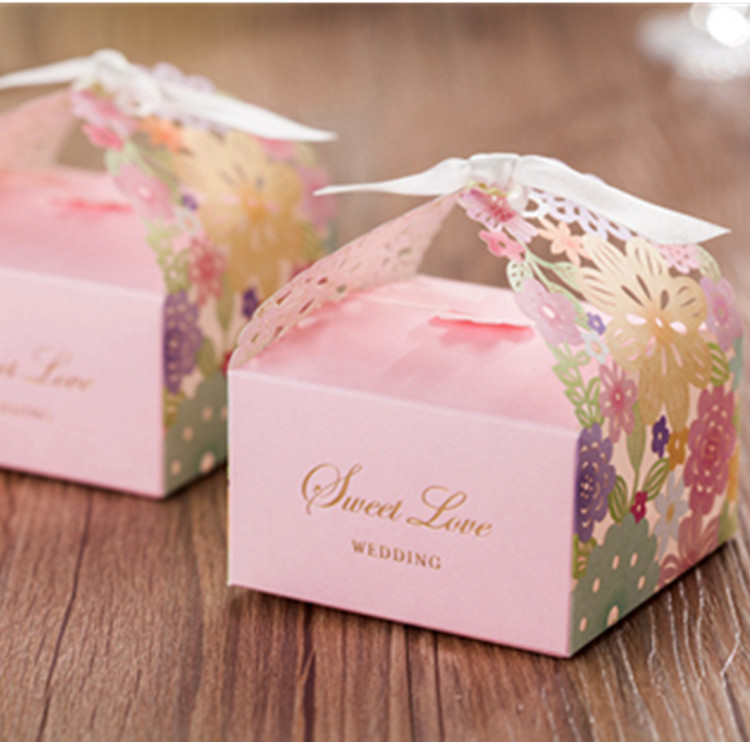 Cute Cardboard Gift Boxes Box Pink Cute Party Gift