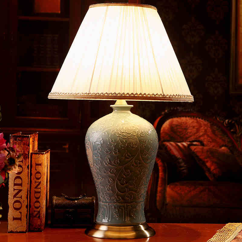 Popular Blue And White Porcelain Table Lamp Buy Cheap Blue