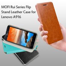 For Lenovo A 916 (or for Lenovo 916) Case MOFI Rui Series Flip Stand Leather Case for Lenovo A916