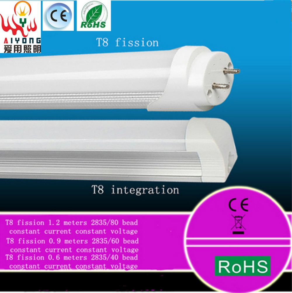 LED lamp T8 fission one 85-265 v 10w14w18w single light bulb fluorescent lamp special offer quality goods bag mail ..(China (Mainland))