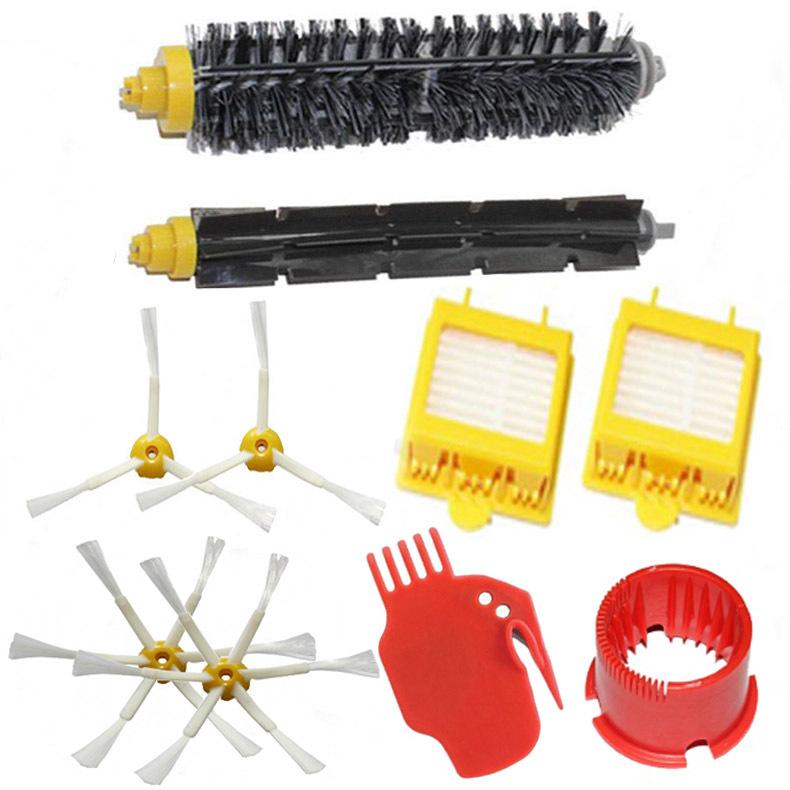 Bristle & Flexible Beater Brush & Hepa Filter & Side Brush & Clean Tool kit Replacement for iRobot Roomba 700 Series 770 780 790(China (Mainland))