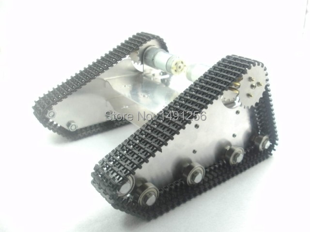 2WD motor driver obstacle-surmounting tank car chassis /full tracked chassis/ robot tank car for DIY