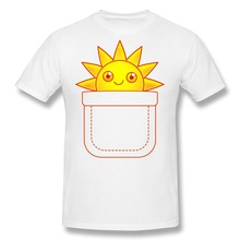 2015 Stylish Pocket Full of Sunshine Men tee shirt Exercise Men Short Sleeve Cotton 3D t