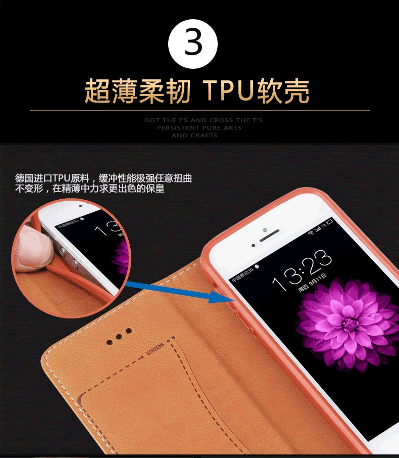 5S Case,New Arrival Luxury Original Brand GEBEI Genuine Leather Flip Unique Magnet Design Stand Case Cover For iPhone SE 5S