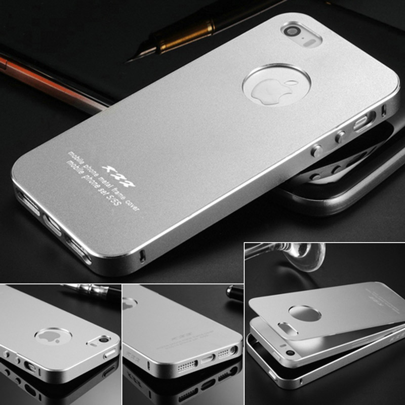 Ultrathin Aluminum Case iPhone 5 5S SE 2 IN 1 Phone Bag Back Cover Coque Luxury Matte Surface Screw - artisome Official Store store