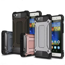Hybrid Durable Armor Case For Huawei P8 P9 Lite Plus Mate8 Honor 5C V8 Silicone + PC Shockproof Hard Rugged Cases Cover Back(China (Mainland))