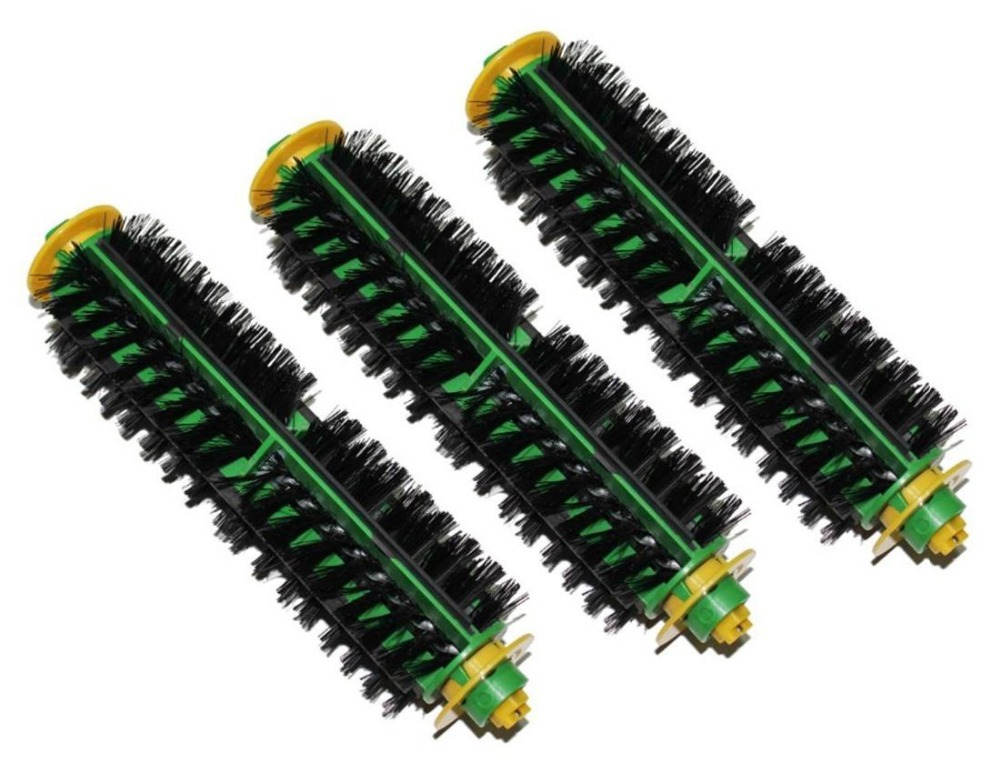 3 x Bristle Brush Replacement for iRobot Roomba 500 Series 510 530 535 540 550 560 570 580 Vacuum Cleaning Robots(China (Mainland))