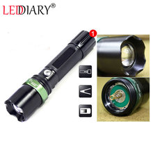 LED torch/flashlight torch Zoomable focus  Aluminum Cree waterproof AAA rechargeable free shipping(China (Mainland))