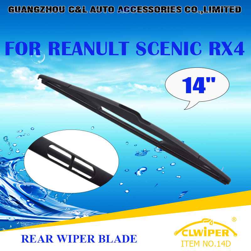 "For REANULT SCENIC RX4, Exclusive Rear Car Windshield Windscreen Wiper Blade 14"" Cars styling accessories(China (Mainland))"
