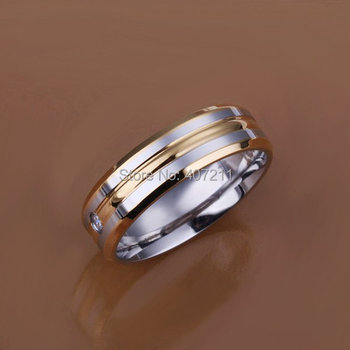 Stainless steel Beauty Zircon Gold  Ring Women Jewelry Whosesale 18k plated  Free shipping