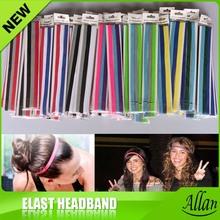 1000pcs Woman & Girl headbands single sports headband for Yoga.run.dance.workout cheerleader.school colors(China (Mainland))