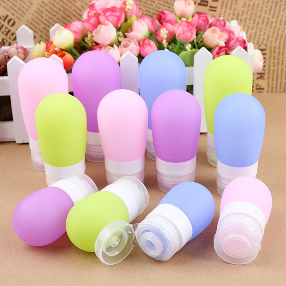 100% New Silicone Refillable Bottles Portable small sample containers Mini Traveler perfume bottles for Shampoo Bath 2016 Hot(China (Mainland))