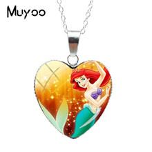 ใหม่แฟชั่นความงาม Little Mermaid Ariel Princess Heart สร้อยคอเจ้าหญิงหวาน Lovely Mermaid จี้หัวใจ JewelryHZ3(China)