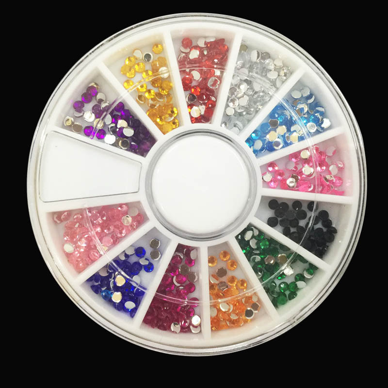 1Pack Nail Decoration Diamond 12 Color Nail Art Diamond Glitter,3D Nail Art Tools Decorations Rhinestones Jewelry Makeup Tools(China (Mainland))