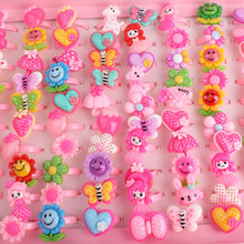 Wholesale 10pcs Mix Lot Animals Flower Heart Assorted Baby Girl Children's Cartoon Rings Free Shipping