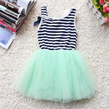 summer fashion new baby girl ball gown dress lace+cotton material 3 colors age 0-2(China (Mainland))