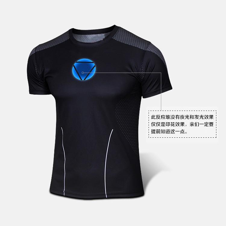 2015 The New Brand Iron Man Short Sleeve T Shirt Summer