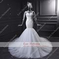 Real Photos Perfect Lace Mermaid Wedding Dress 2016 Appliques Backless Bridal Gowns Dresses vestido de noiva