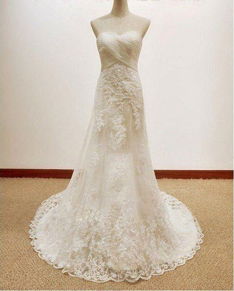 Wedding Dresses Wholesale : Wholesale new sweetheart all body lace wedding dresses real pic