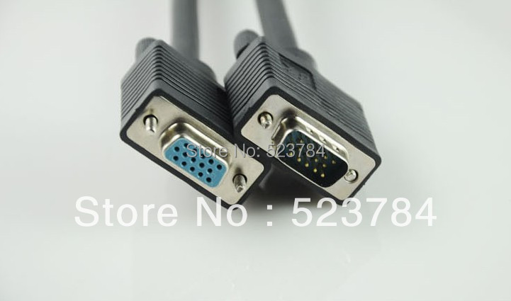 LCD TV, computer connecting line of VGA to extend the line connecting the HD data projector, male to female3m(China (Mainland))