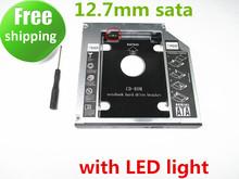2nd SSD HDD HD Hard Disk Driver Caddy SATA for 12.7mm CD / DVD-ROM Optical Bay Universal caddy(China (Mainland))
