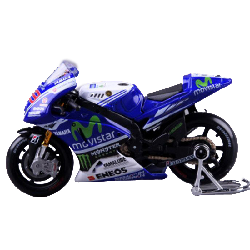 1/18 Motocycle Diecast Model Yamaha No 46 2015 YZR-M1 Blue Color Simulation Alloy Moto GP Racing Home Decoration for gift(China (Mainland))