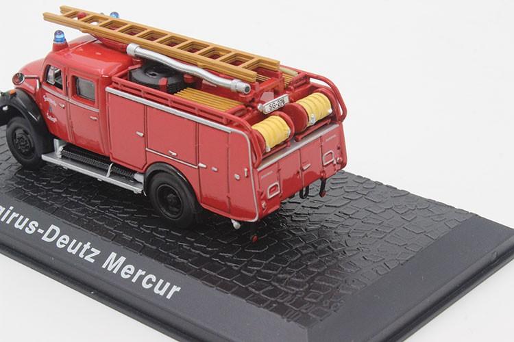 Atlas 1:72 Magirus-Deutz Mercur fireplace truck mannequin Racing automobile mannequin Favorites Mannequin