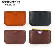 2016 Genuine Leather Card & ID Holders Case Ultra Thin Business Card Package Slim Credit Card Holder Organizer Manager For Men(China (Mainland))