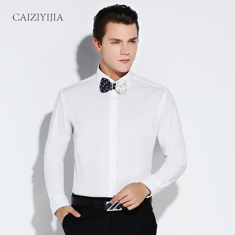 Brand Long Sleeve Men Shirt White Dress Shirt Male Boys Cotton Casual Slim Fit Formal Business Designer High Quality Plus 4XL(China (Mainland))