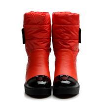 2016 nuevos planos de la manera cargadores de la nieve de down cálido botines mujeres moda plataforma de algodón zapatos de piel gruesa en el interior(China (Mainland))