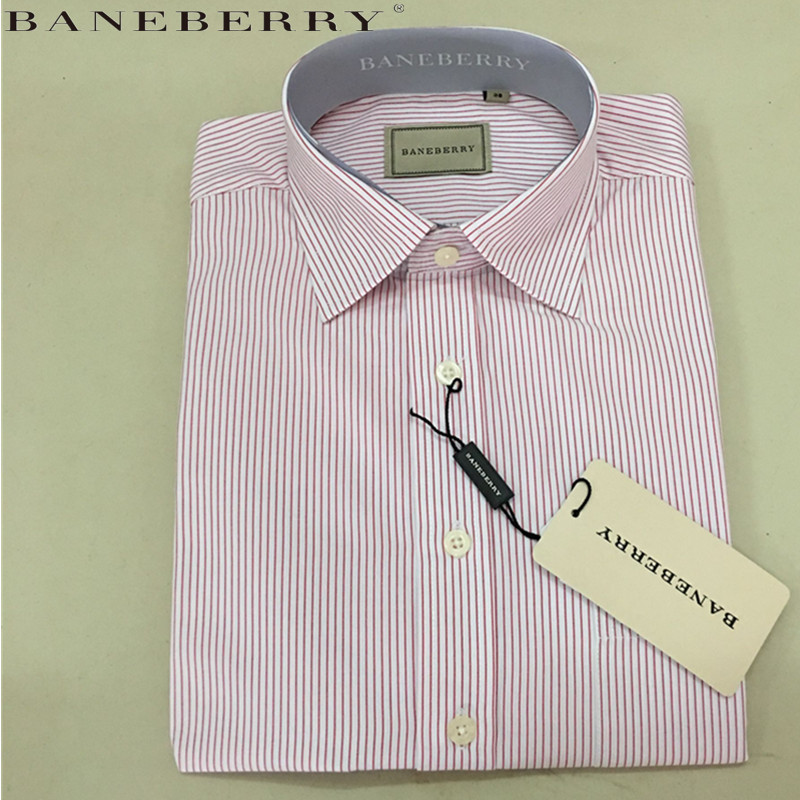 Spring and Autumn New men's Business shirt BANEBERRY brand cotton shirt striped shirt men long sleeve shirts Large size XS-2XL(China (Mainland))