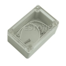 J34 Free Shipping Plastic Waterproof Clear Cover Electronic Project Box Enclosure Case 100x68x50mm  (China (Mainland))