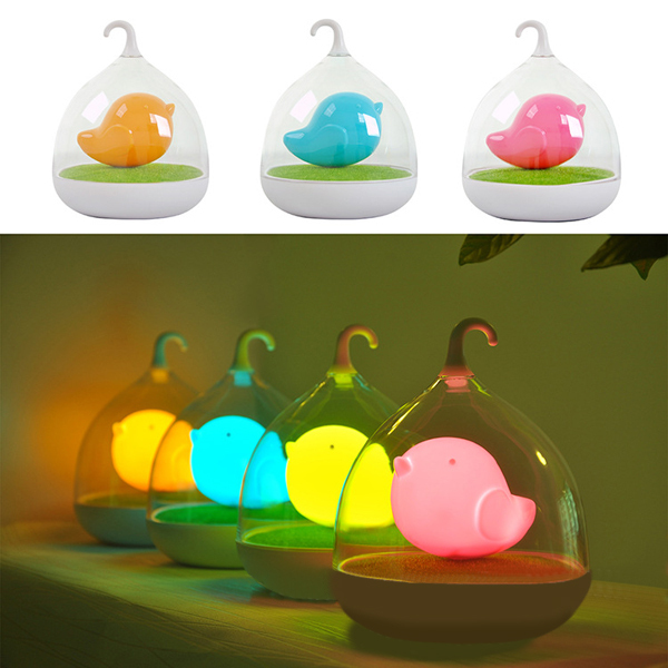 Creative Lovely Birdcage LED Rechargeable Touch Dimmer Night Light(China (Mainland))