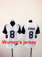 A+++ Women ladies all stitched Dallas Cowboys ladies 82 Jason Witten 9 Tony Romo 19 Miles Austin 50 Sean Lee 88 Dez Bryant(China (Mainland))