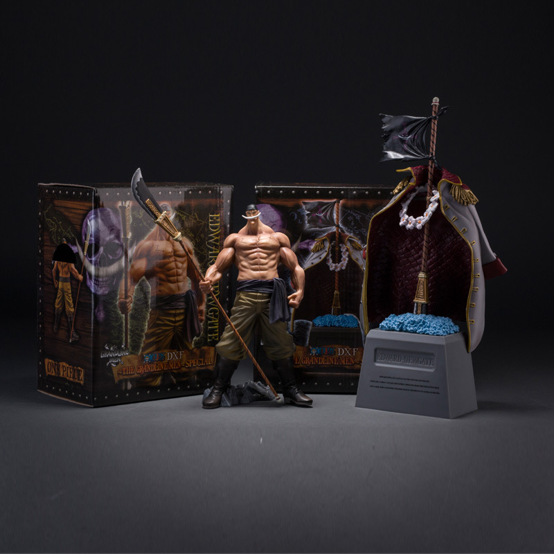 Anime One Piece Edward Newgate & Tombstone White Beard Emperors Action Figure Model Collection Toys One Piece Figure 2 Pcs/Lot(China (Mainland))