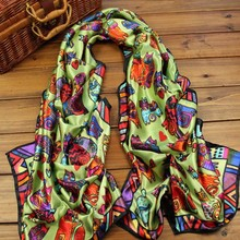 Wholesale 2015 new silk brand scarf for women large squaresatin shawls and scarves winter warm animal design scarf(China (Mainland))