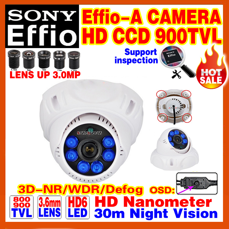 "Hot Style Nano Real 1/3""Sony CCD Effio 4140DSP+238 Color Image Video Home Hd Cctv Camera Osd Bule LED Infrared Night Vision 30m(China (Mainland))"