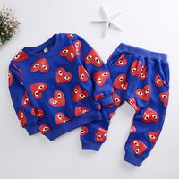 Clothing Set Baby Boy Clothes Fashion Autumn Clothes Sets For Boys Kids Cartoon Lucky Eyes Coat