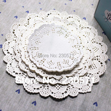 "SS01607 4.5""&5.5""6.5""&8.5""Mixed Sizes Round Lace Flower Paper Doilies Placemat Crafts for Wedding Party Decoration Supplies(China (Mainland))"