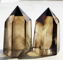 Buy Free shipping TOP!!! 2pcs 69 NATURAL SMOKY CITRINE QUARTZ CRYSTAL POINT HealinA682 for $51.78 in AliExpress store
