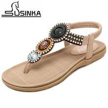 2016 New Bohemian National Beaded Women Sandals Exquisite Comfortable Beach Flip Flops Women Flat Sandals Summer Casual Shoes(China (Mainland))