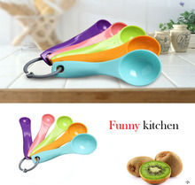 Multicolour measuring spoons 5pcs lot 1 2 5 5 7 5 15ml coffe tea plastic measuring
