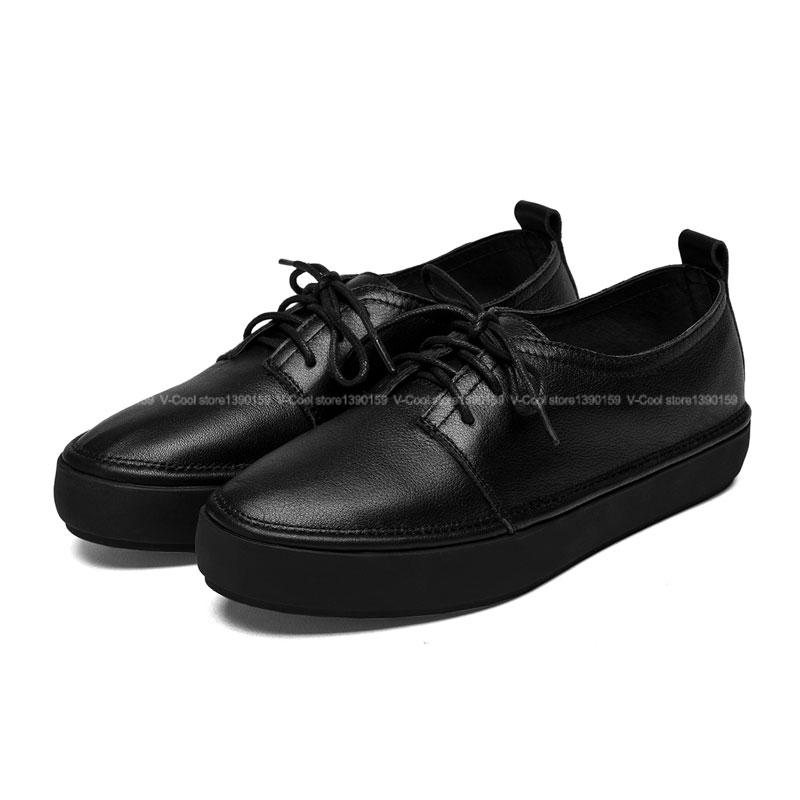 2015 toe flat shoes genuine leather flats
