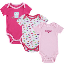 3pcs lot Baby Rompers Newborn Rompers Short Sleeve Cotton Baby Boy Girl Rompers Baby Clothing