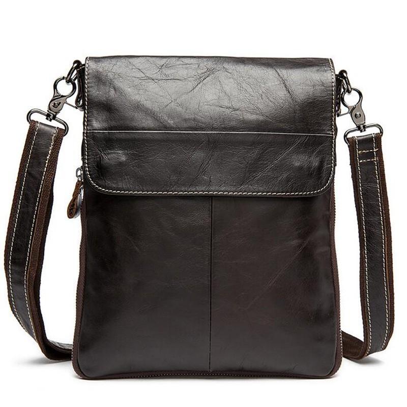 100% Genuine Leather men bags Ipad shoulder cowhide leather bags men's briefcase vintage men Messenger bag Shoulder Bag L4-2127