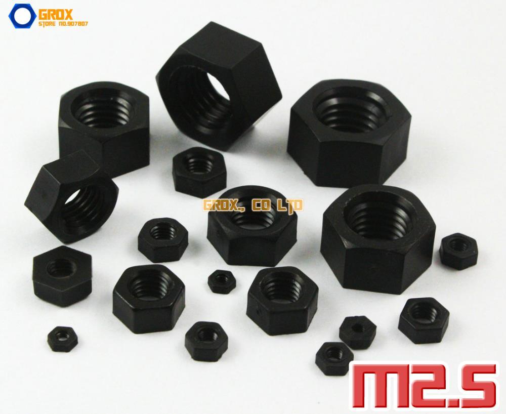 200 Pieces M2.5 Black Nylon Metric Hexagon Nut Insulation Nut<br><br>Aliexpress